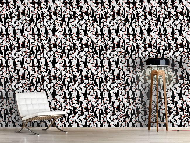 Designtapete Die Reise Der Pinguine