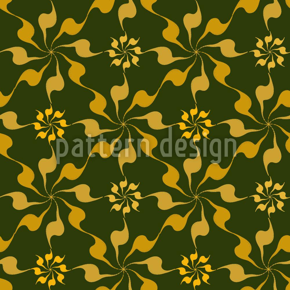 Designtapete Spiral Floral