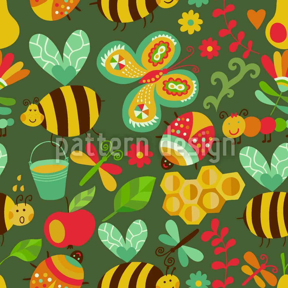 Designtapete Fleissige Honig Bienchen Im Wald