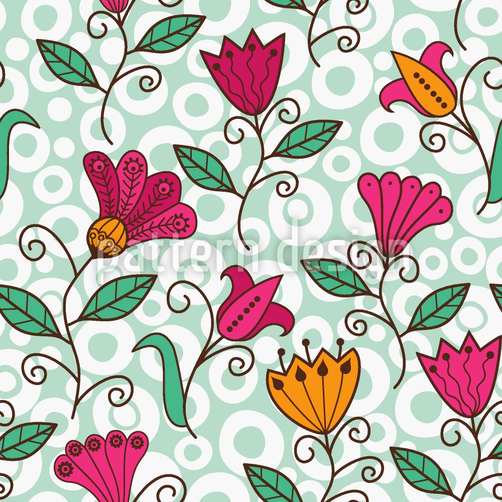 Designtapete Florale Süsse