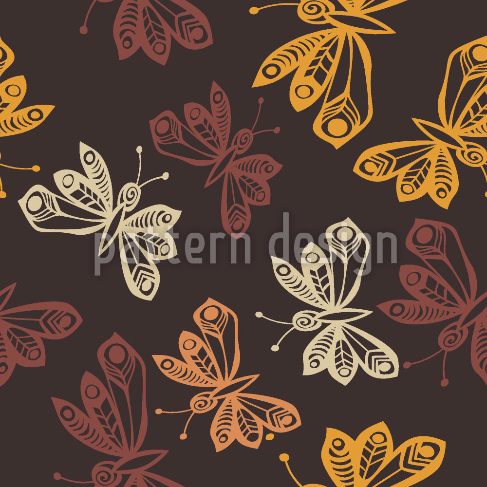 Designtapete Schmetterlinge Im Herbst