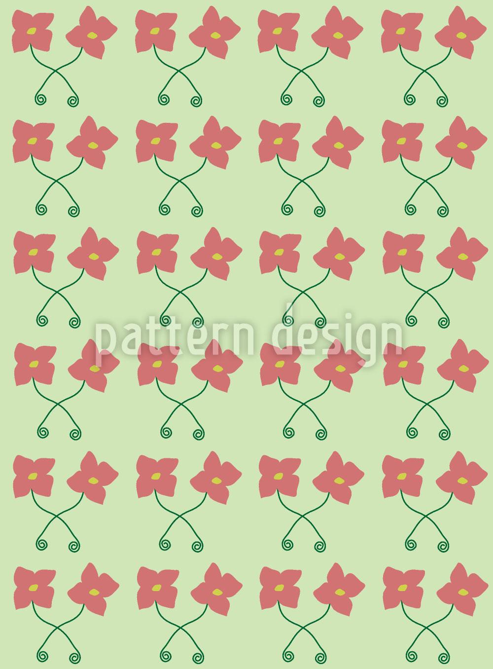 Designtapete Blumen Paare