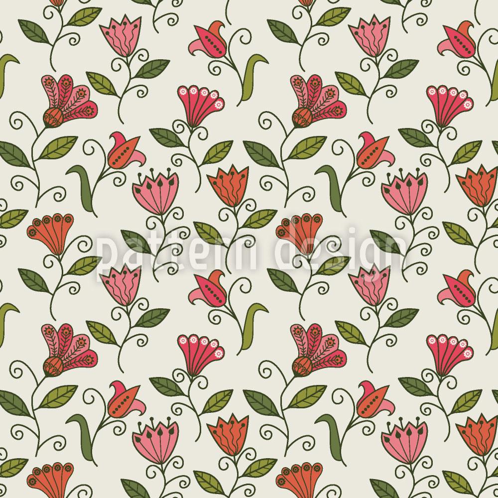Designtapete Süsse Blumen Erinnerung