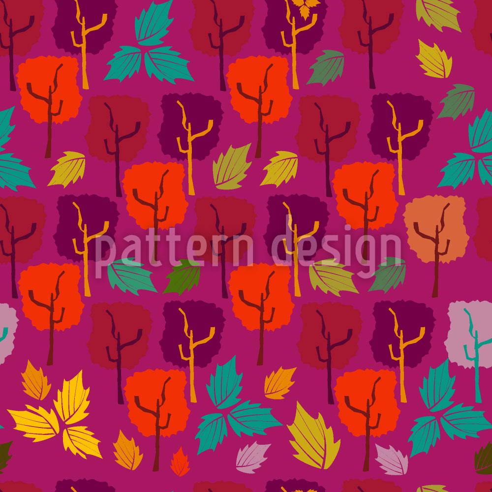 Designtapete Wenn Die Blätter Fallen