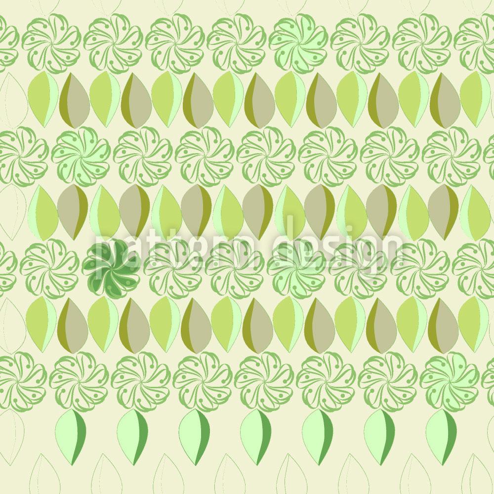 Designtapete Florale Achterreihe Im Frühling