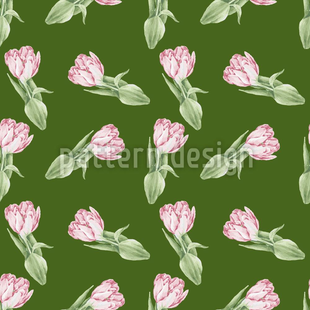 Designtapete Tulpen Romanze