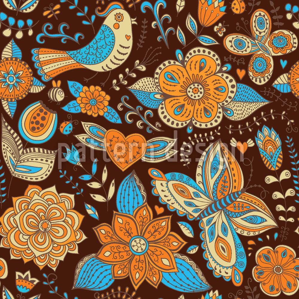 Designtapete Fauna Und Flora Im Herbst