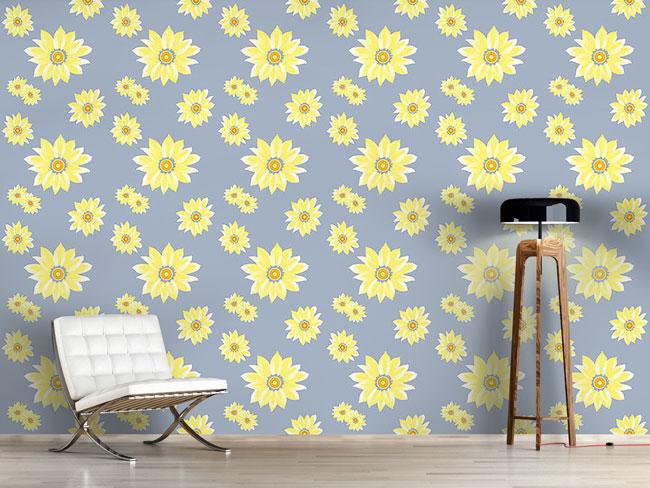 Designtapete Sonnenblumen Erwachen