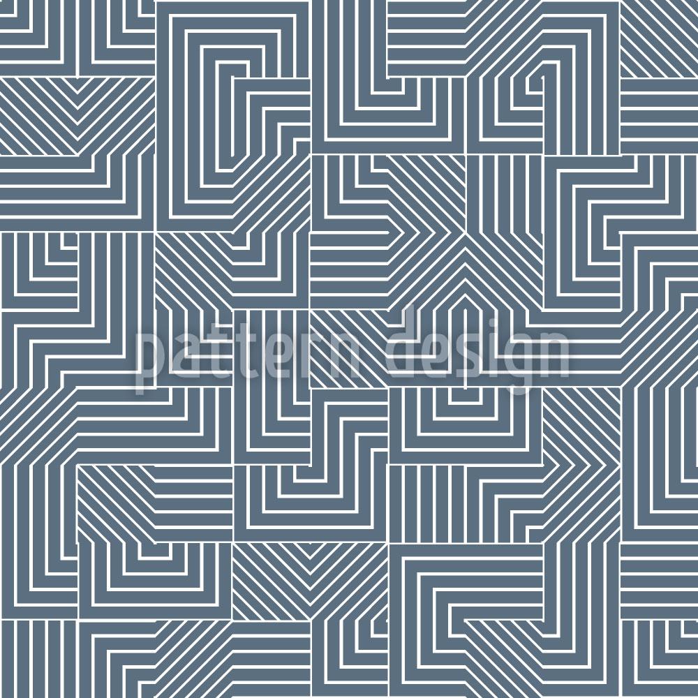 Designtapete Geometrisches Labyrinth
