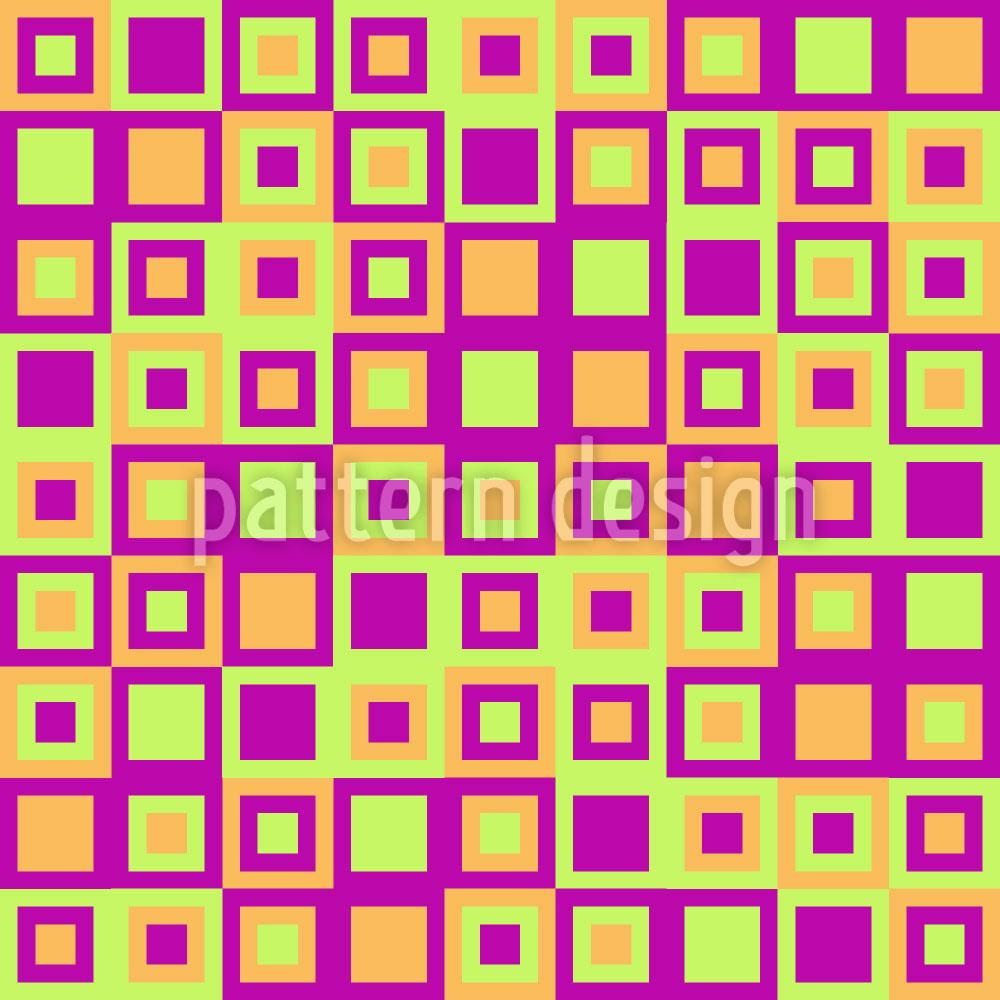 Designtapete Glückliche Quadrate