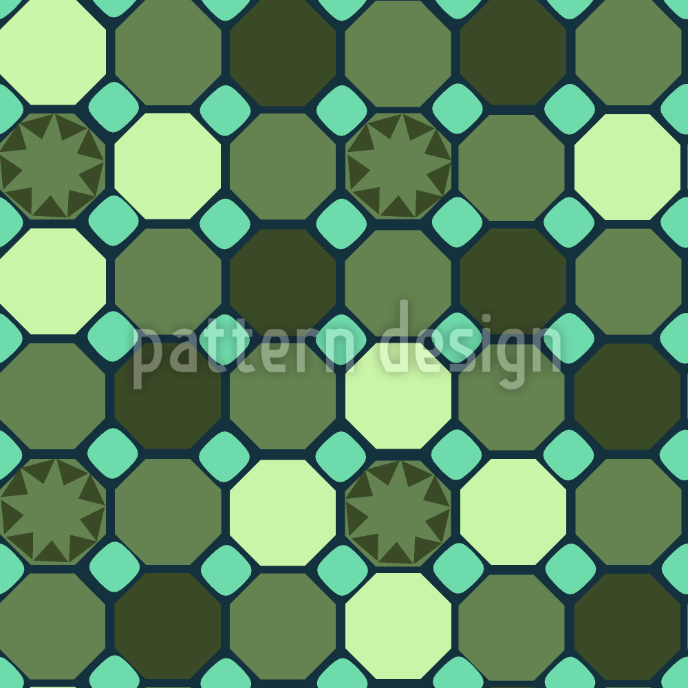 Designtapete Stern Mosaik