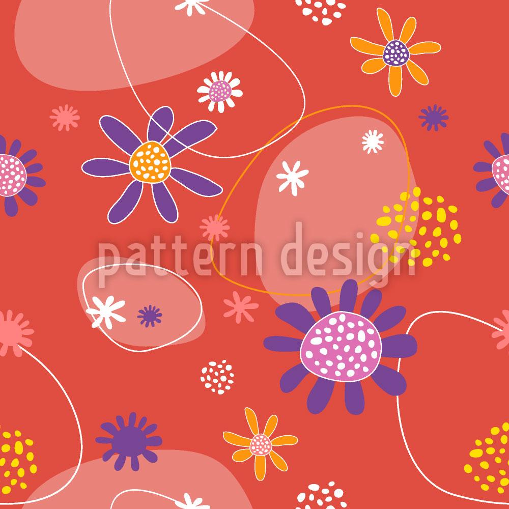 Designtapete Blumen Mira
