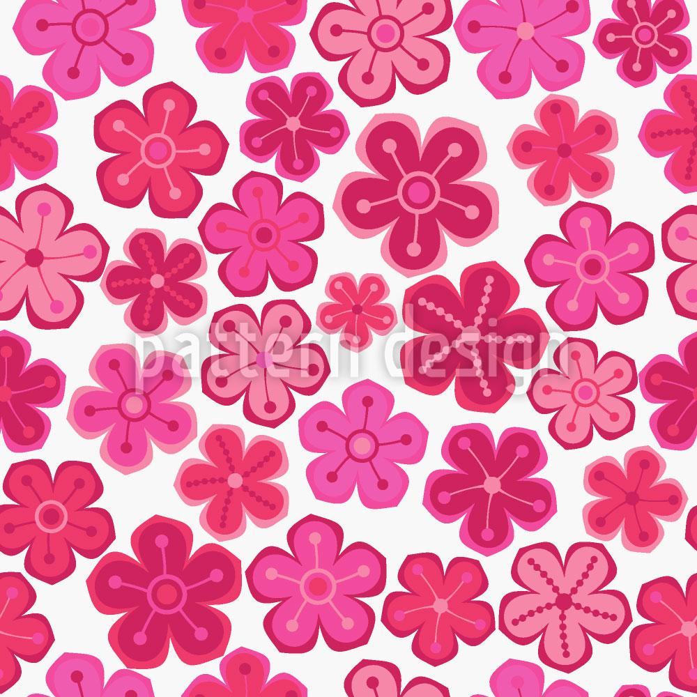 Designtapete Hübsche Blumen Fräulein