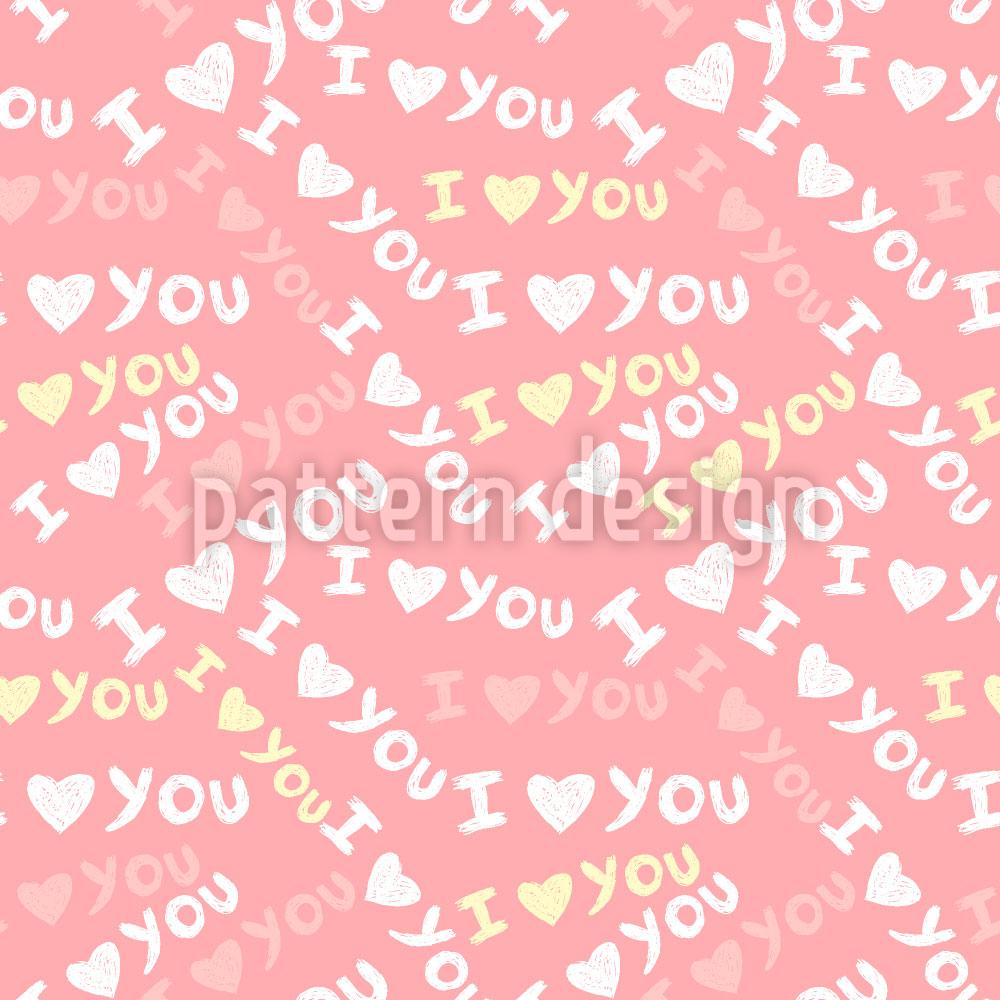 Designtapete I Love U