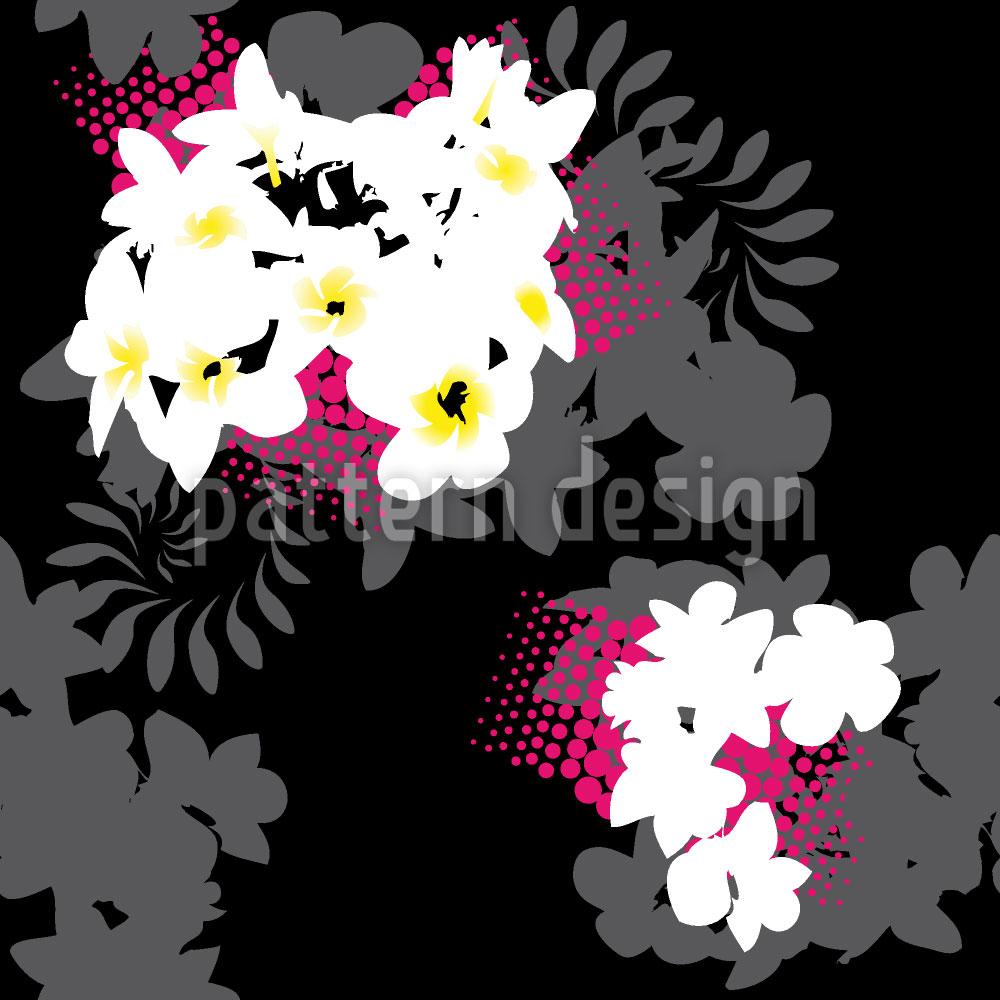 Designtapete Strandblumen