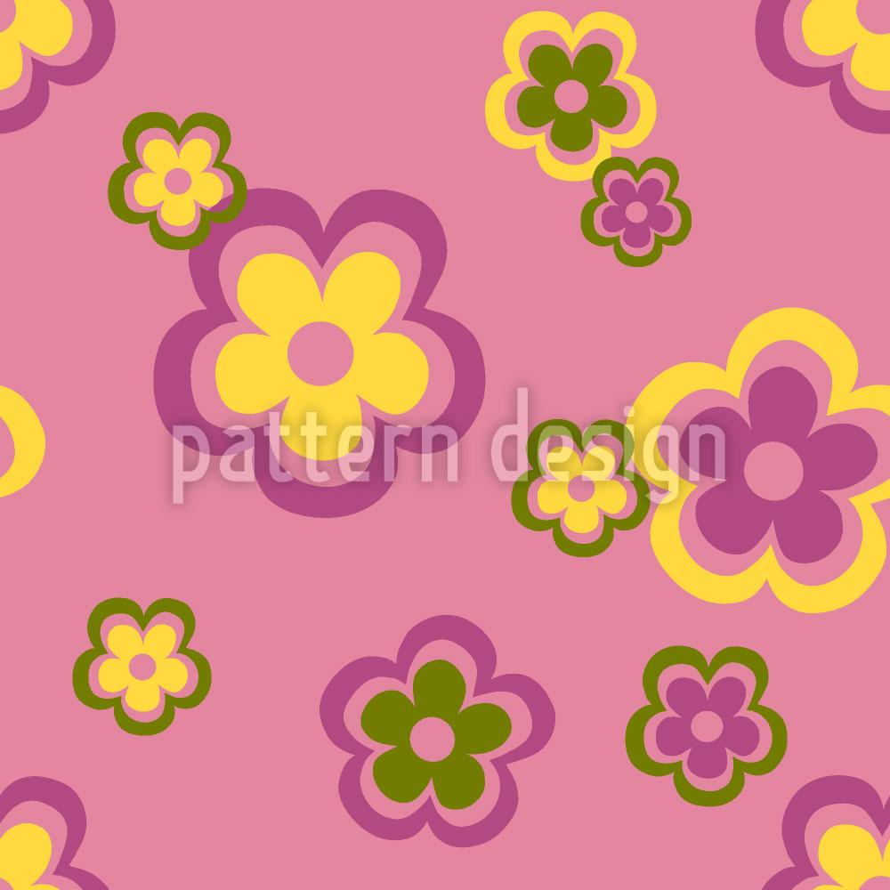 Designtapete Partyblumen Der Siebziger