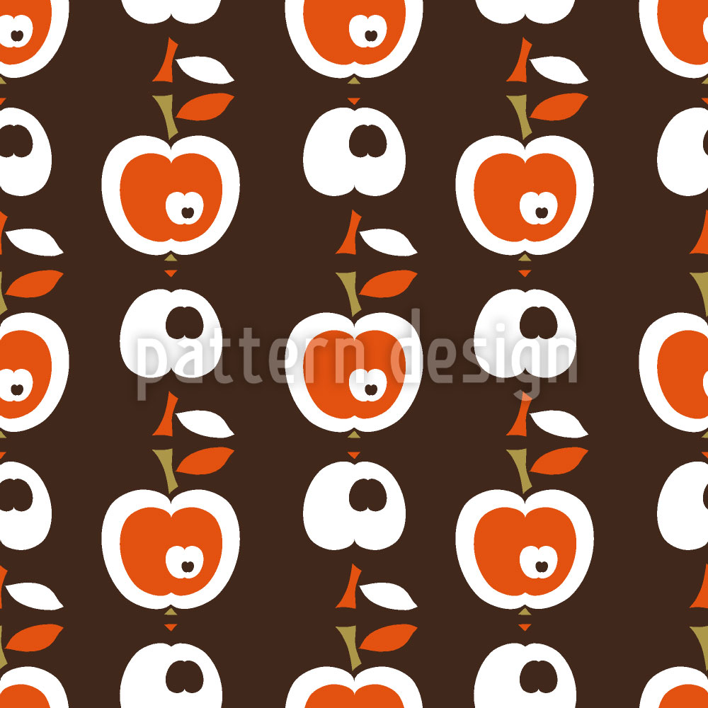 Designtapete Äpfel In Schokolade