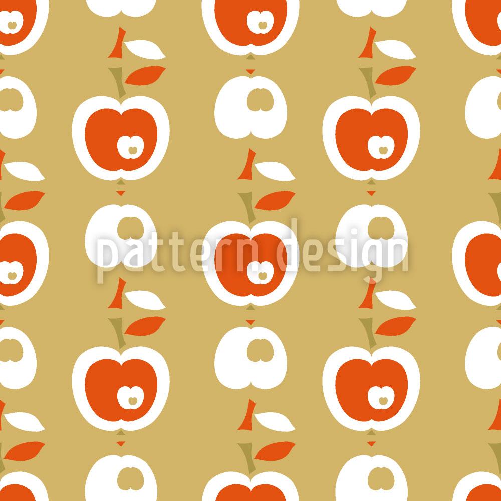 Designtapete Äpfel In Karamell