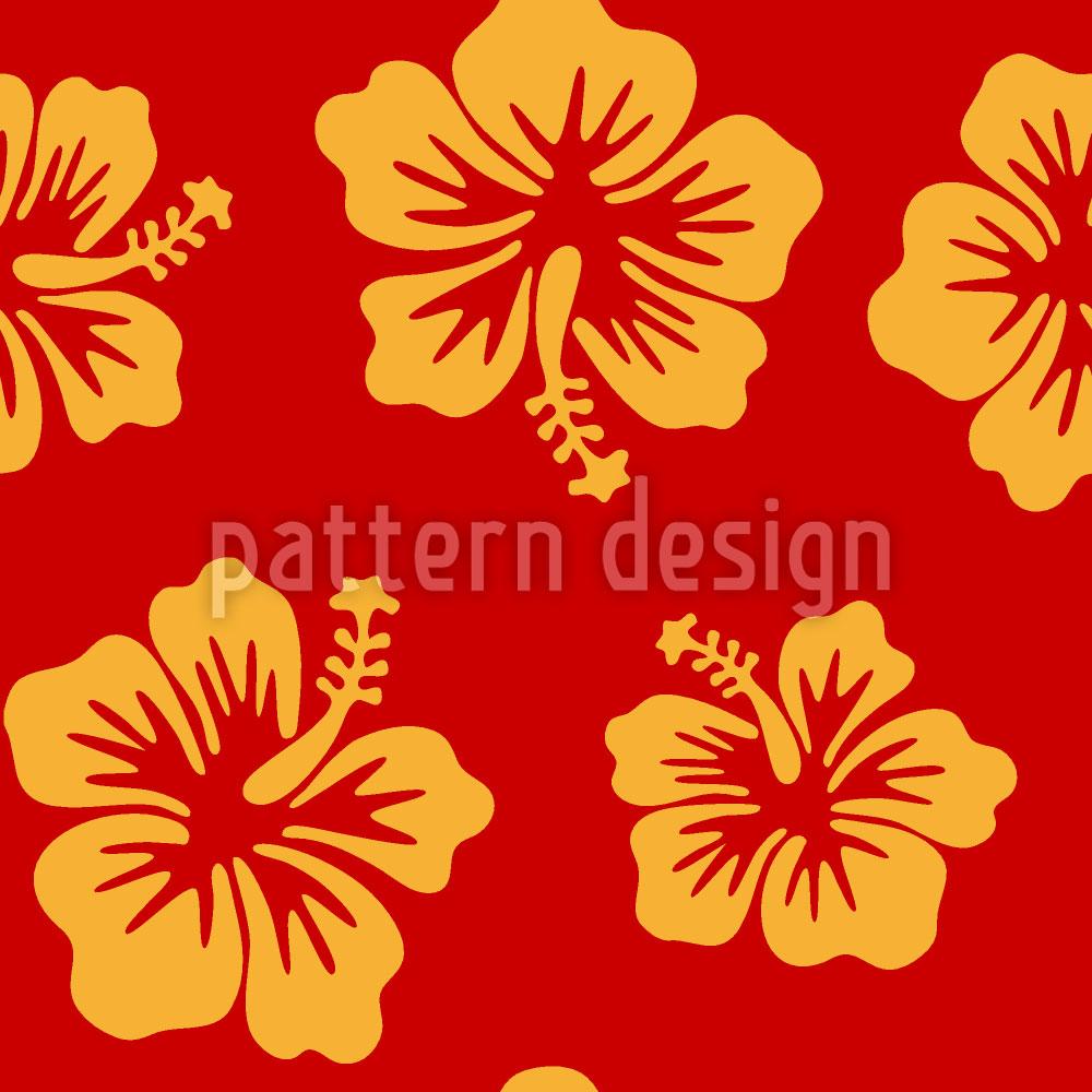 Designtapete Hibiskus Gruss Aus Hawaii