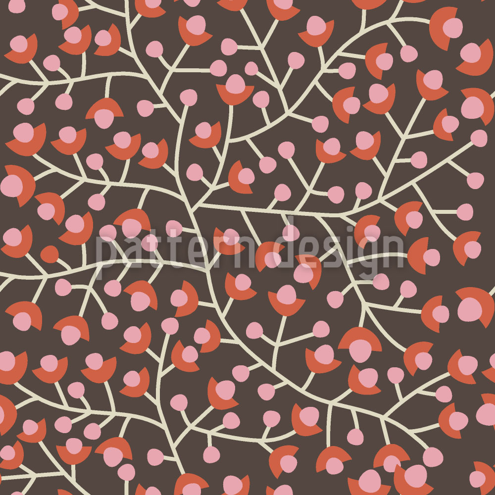 Designtapete Nordic Floral