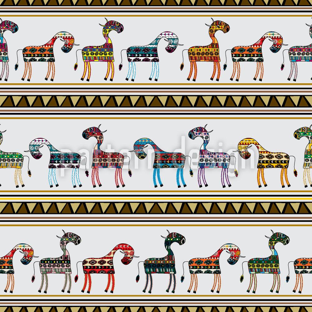 Designtapete Die Kühe Von Chichen Itza