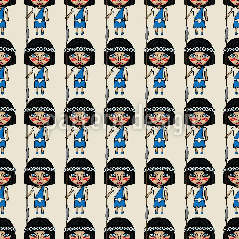 Designtapete Pocahontas Armee