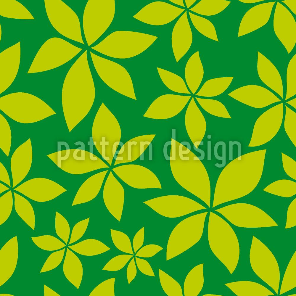 Designtapete Junge Kastanienblätter