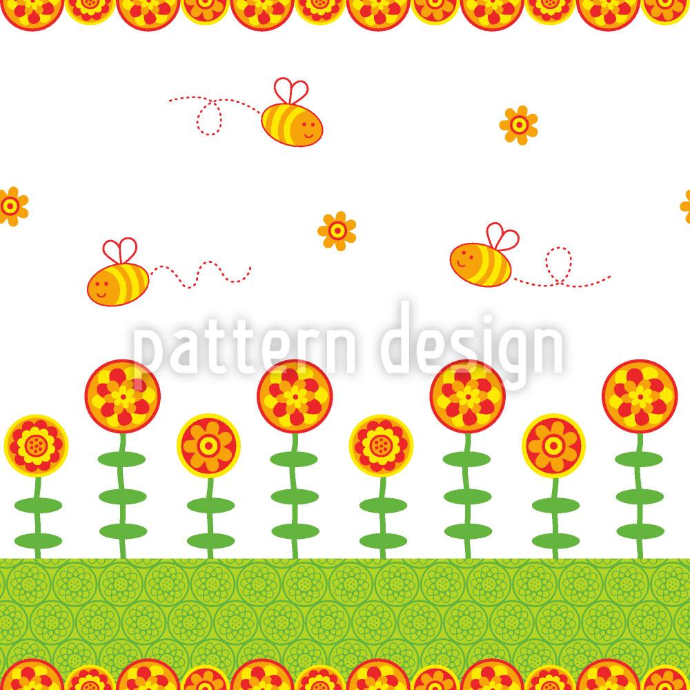 Designtapete Bienchen Freuden