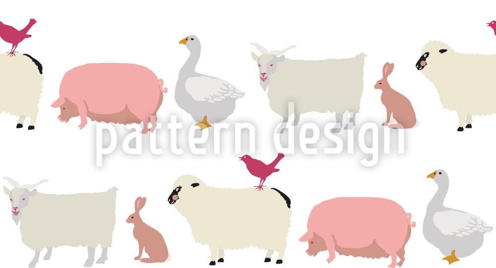 Designtapete Tiere Im Gänsemarsch
