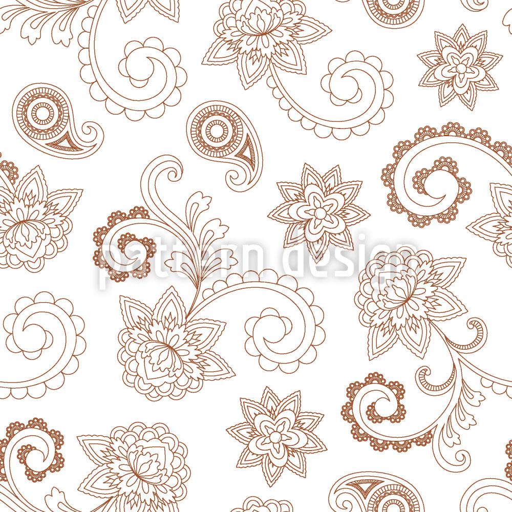 Designtapete Henna Baroque