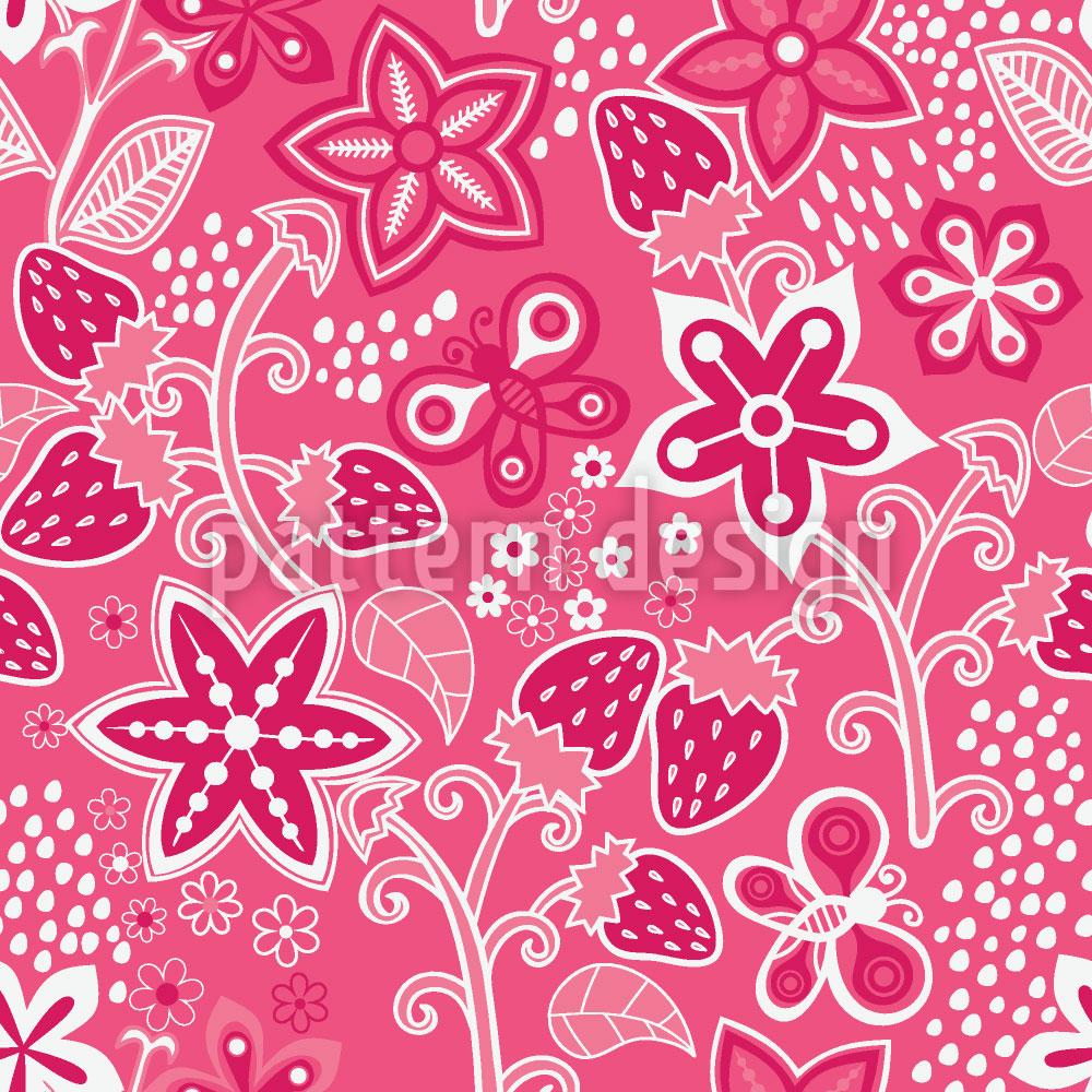 Designtapete Erdbeer Geheimnis