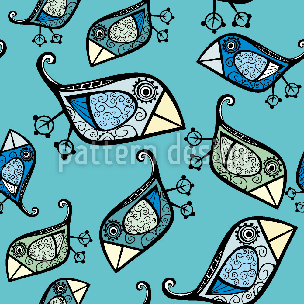 Designtapete Kleine Paradiesvögel