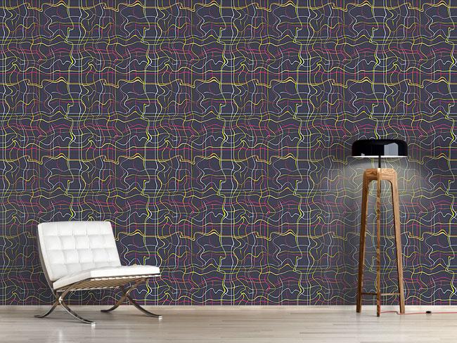 Designtapete Matrix Der Linien