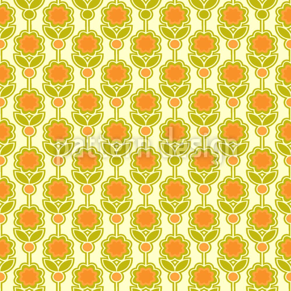Designtapete Siebzig Blumen