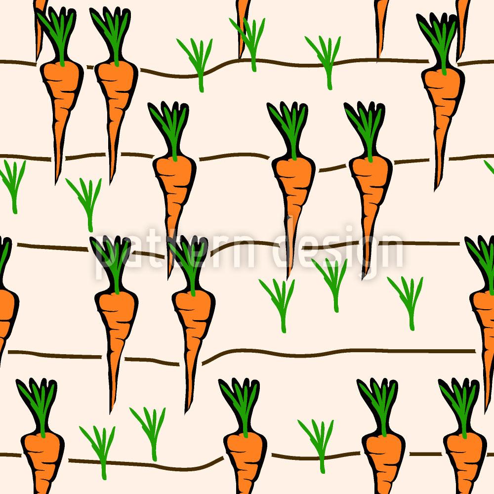 Designtapete Karotten Beet