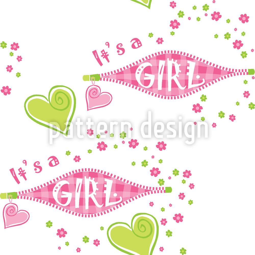 Designtapete Es Ist Ein Mädchen