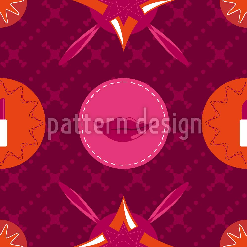 Designtapete Pinkfarbener Schminkkasten