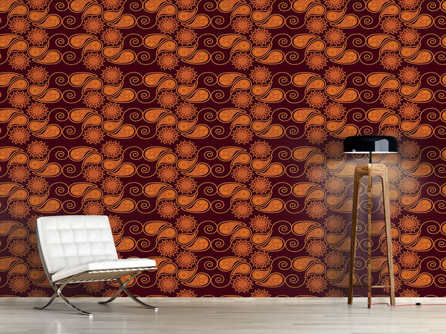 Designtapete Autumn Paisleys