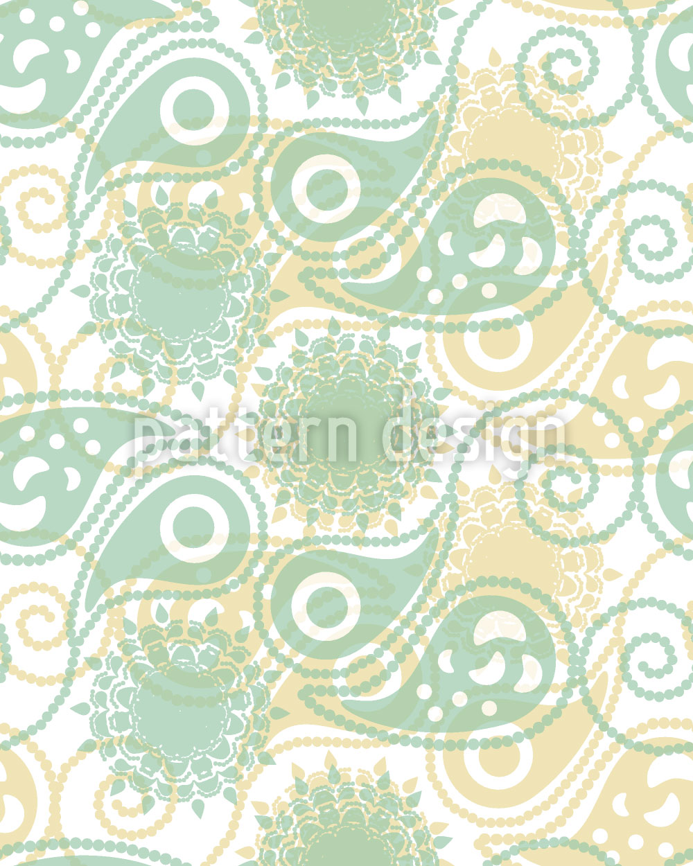 Designtapete Frühling Paisleys