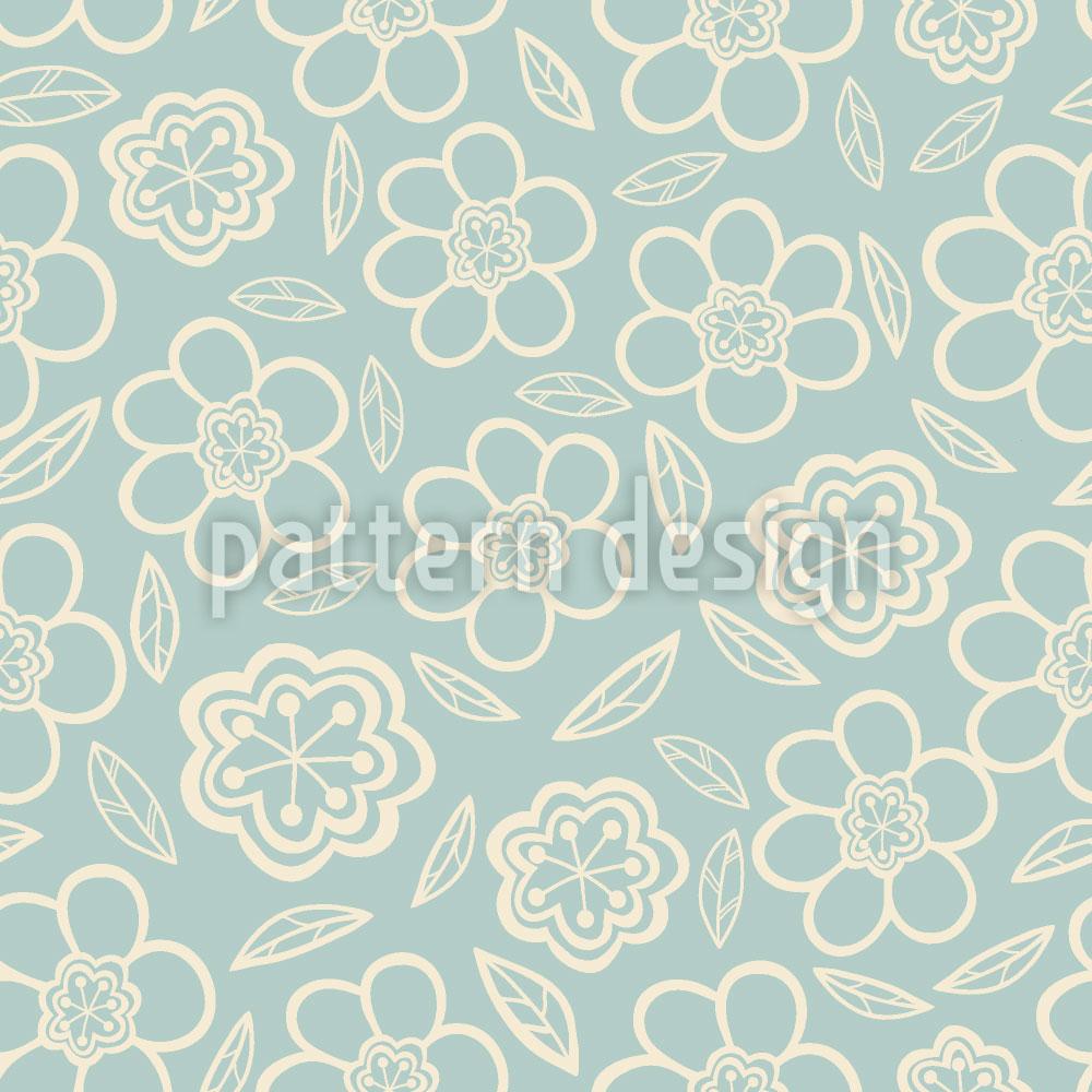 Designtapete Super Soft Floral