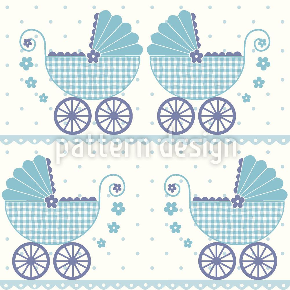 Designtapete Baby Timmys Kinderwagen
