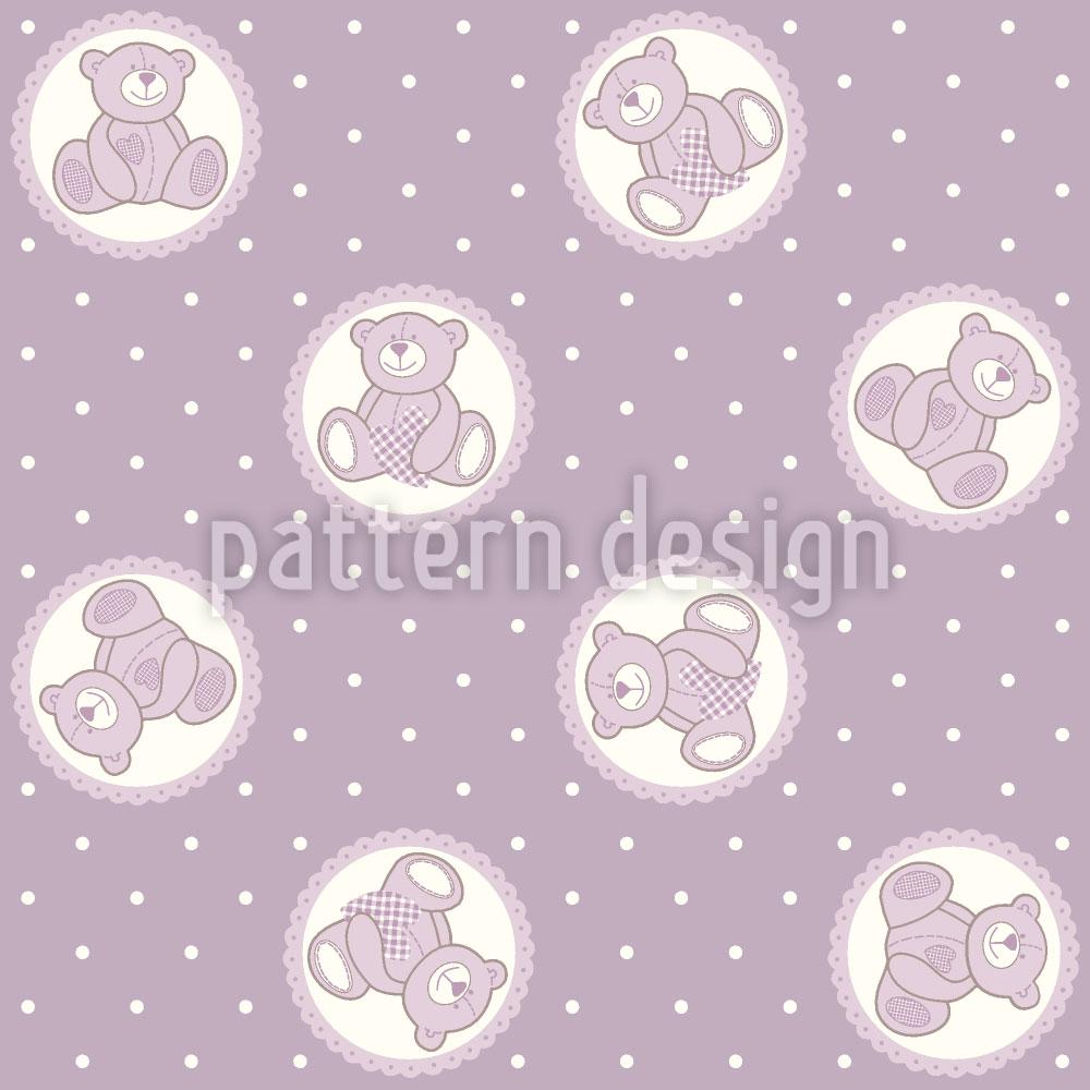 Designtapete Baby Lauras Teddybär