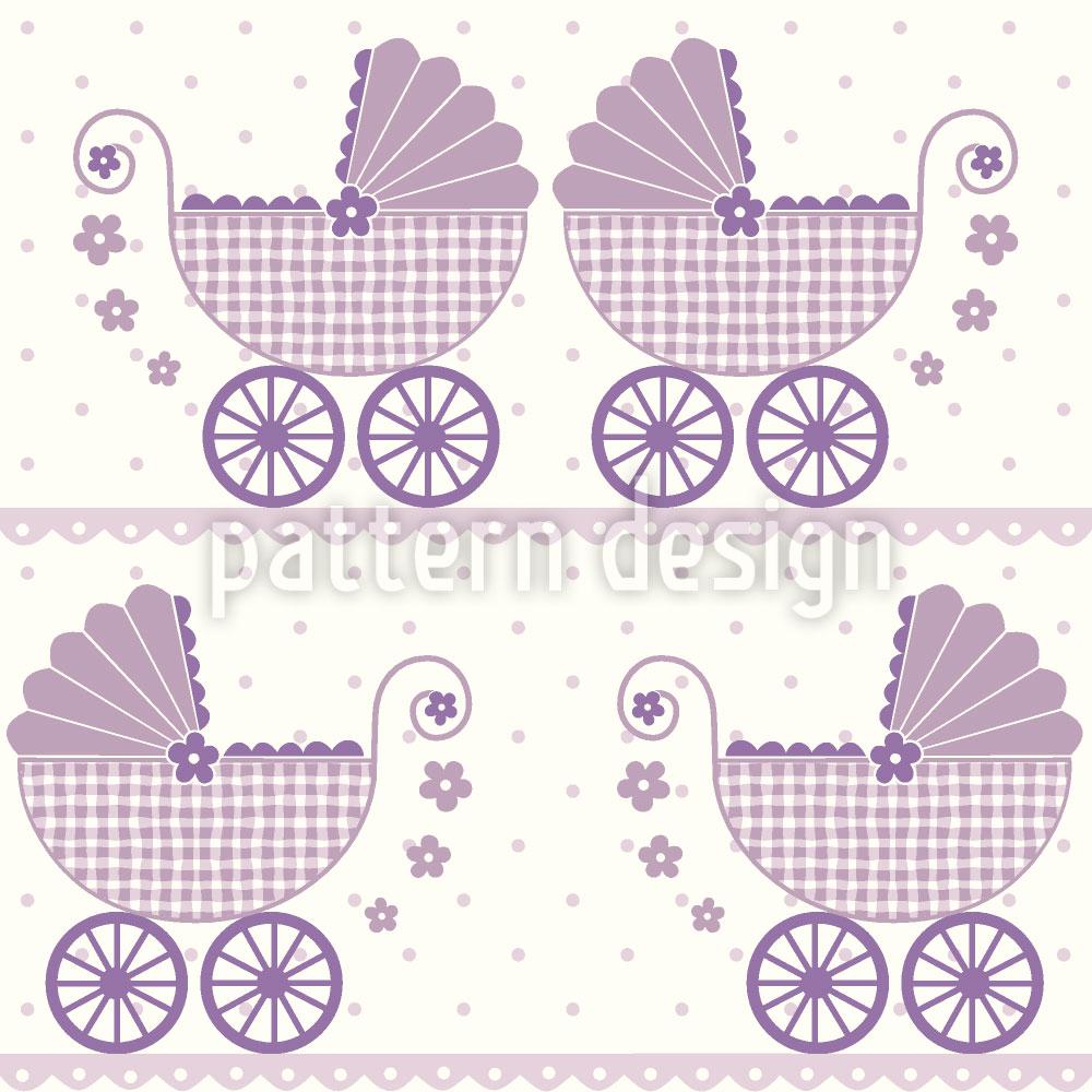 Designtapete Baby Lauras Kinderwagen