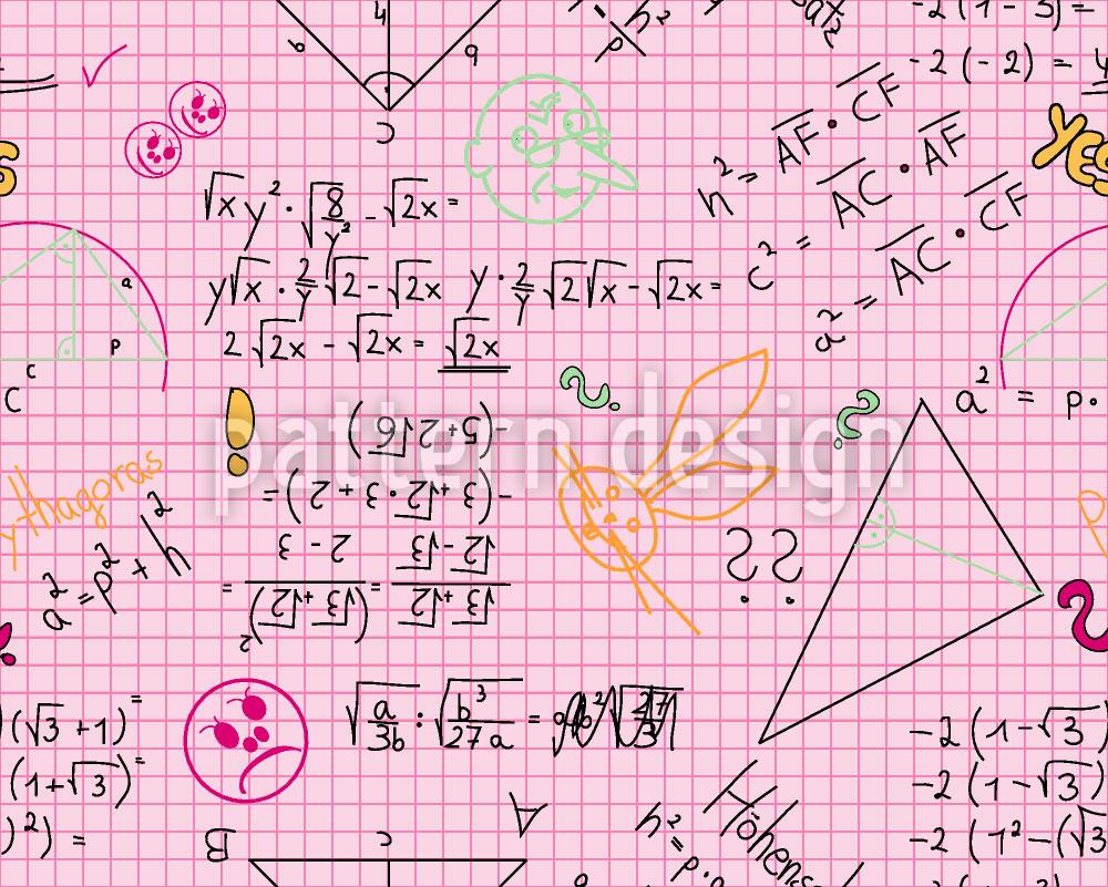 Designtapete Mathe Macht Richtig Spass