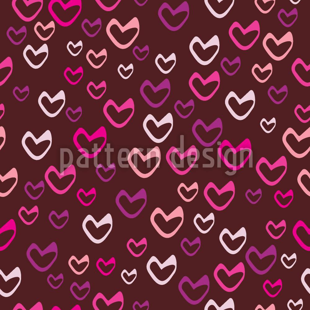 Designtapete Herzchen