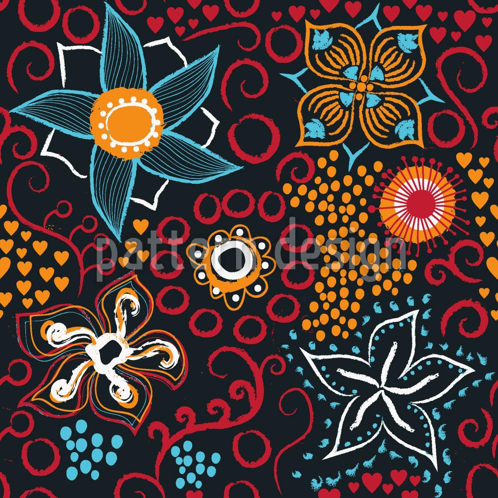 Designtapete Floral Art