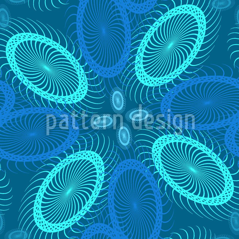 Designtapete Tiefsee Spiralen