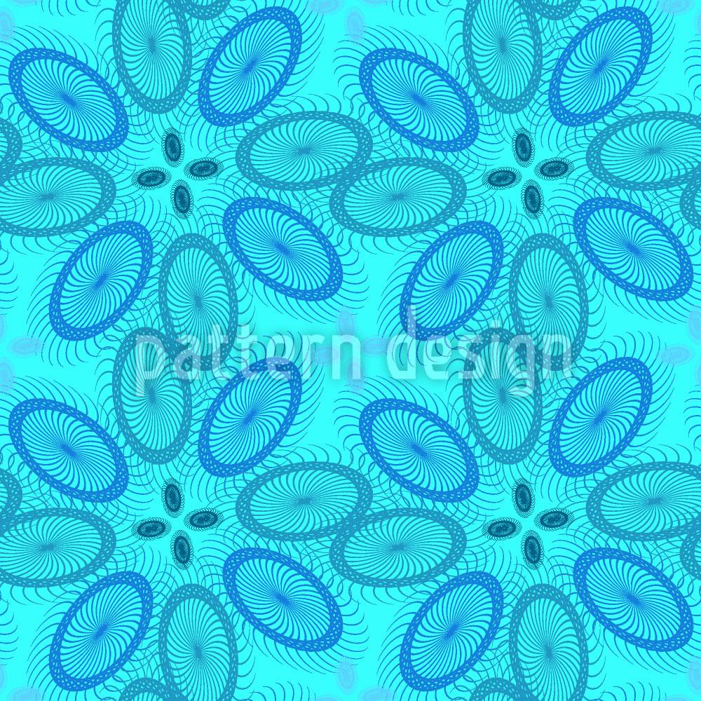 Designtapete Tropische Spiralen