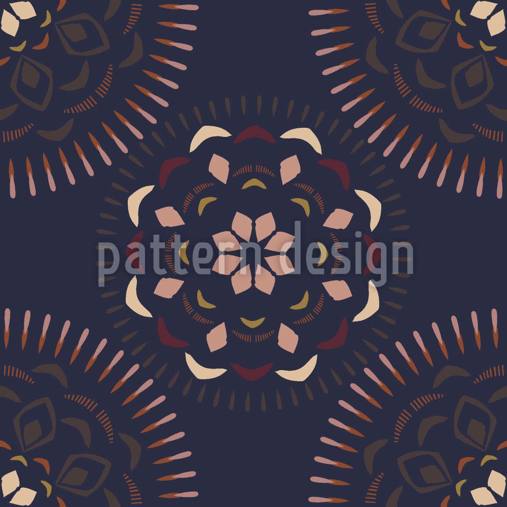 Designtapete Ceylon Mandala