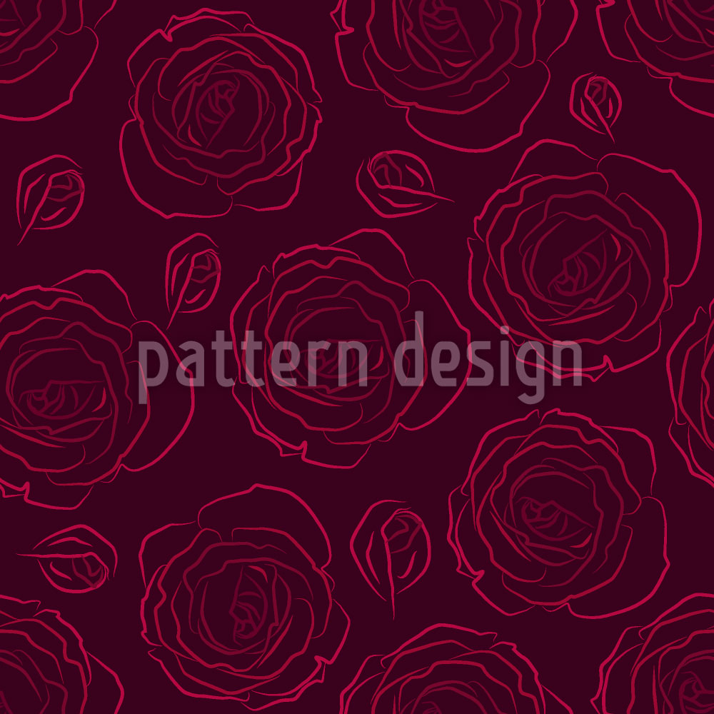 Designtapete Ihre Geliebten Rosen